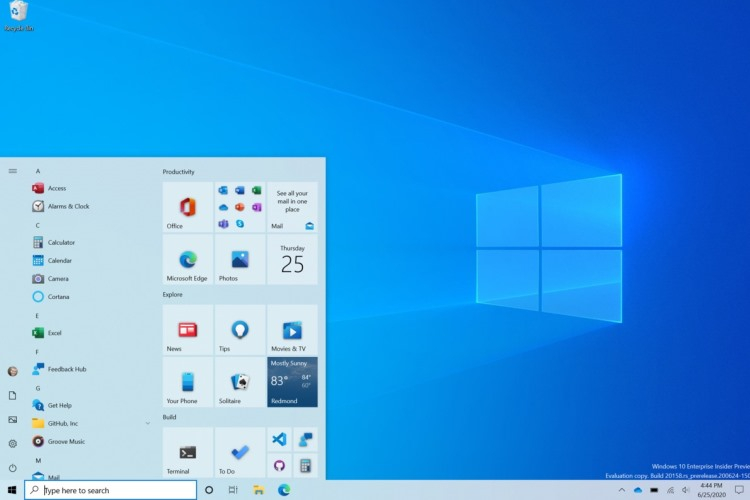 Состоялся релиз Windows 10 Insider Preview Build 20161